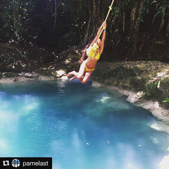 Avez-vous eu votre dose de fun aujourd'hui?  #Repost @pamelast ・・・ There's no time to be bored in a world as beautiful as this. #passionithq #ithq #stage #internship #summerinternship #bestdayoffever #bestsummerjobever #jamaica #bluehole #traveling #theworldisyours #hospitalityschool #hospitalitystudent #beachesochorios